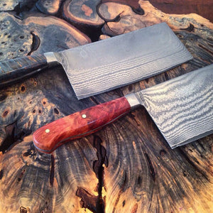 Stainless Damascus Cleaver - No One Alike