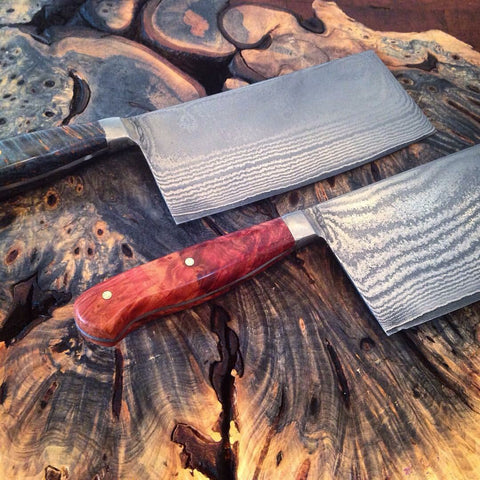 Stainless Damascus Cleaver