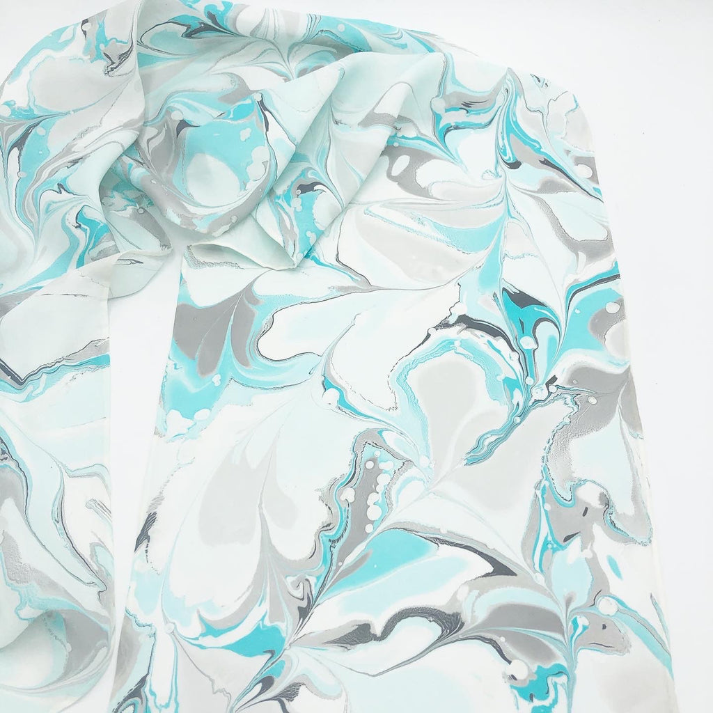Pale Turquoise Small Scarf - No One Alike