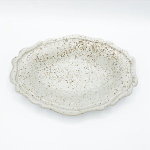 Meloy White Oval Fluted Dish - No One Alike