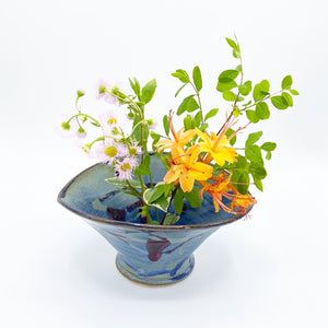 Oval Long Beach Blue Ikebana - No One Alike