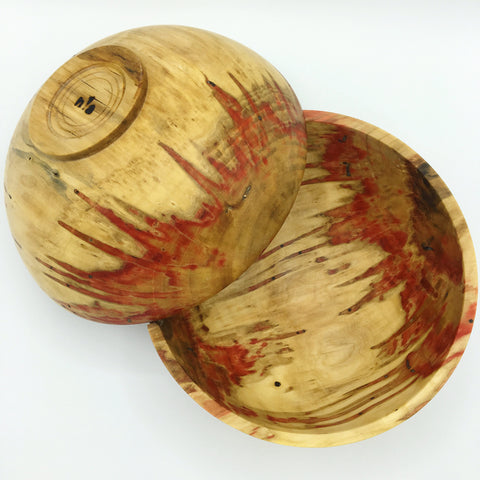 Flaming Box Elder Hand Turned Bowl - No One Alike