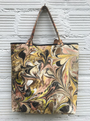 Yellow Hair on Hide Large Tote - No One Alike