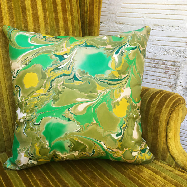 Kelly Green & Olive Pillow - No One Alike