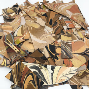 Neutral Designer Leather Scraps - No One Alike