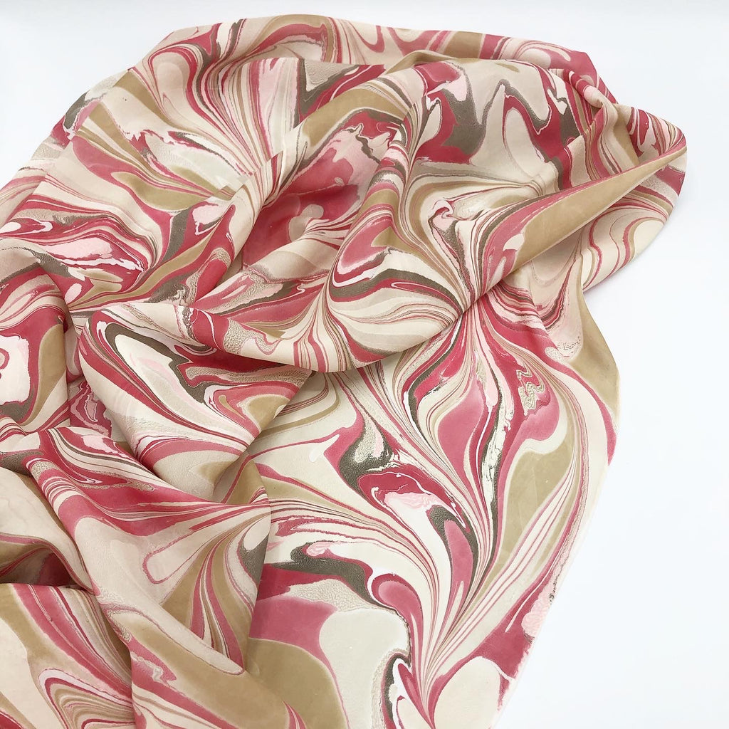 Strawberry Float Large Silk Wrap - No One Alike