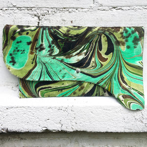 Green Calf Skin Clutch - No One Alike