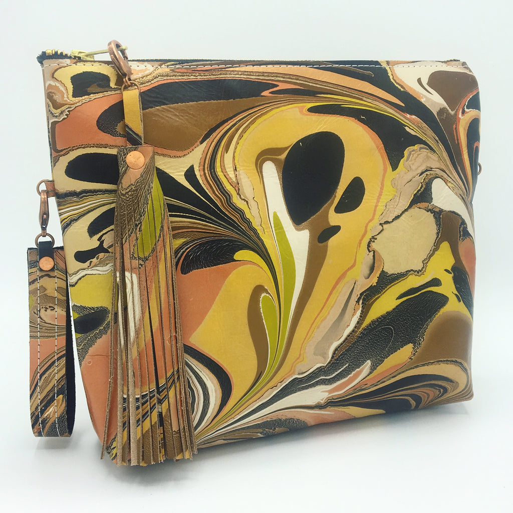 Yellow Statement Pouch Clutch - No One Alike