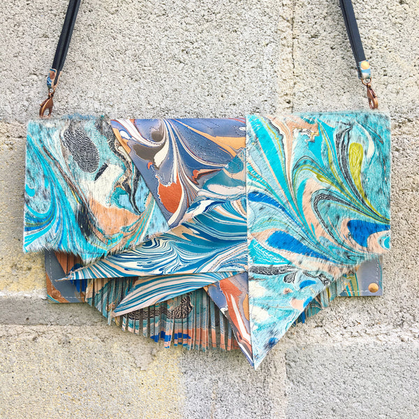 Mixed Media Day Dream Fringe Clutch