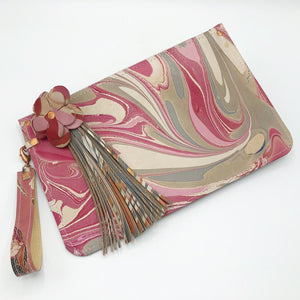 Pink & Gray Wristlet - No One Alike