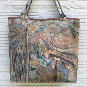 Metallic Peach Hair on Hide Tote - No One Alike