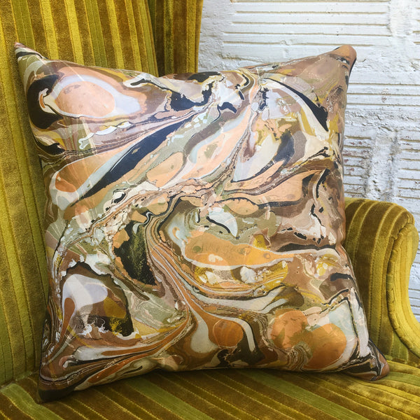 Golden Crackle Pillow - No One Alike
