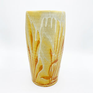 Tall Golden Prairie Vase - No One Alike