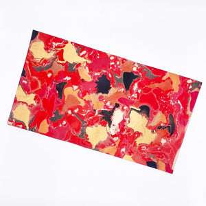Red Crackle Medium Leather Sheet