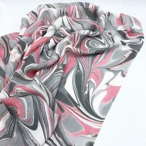 Platinum Rouge Large Silk Wrap - No One Alike