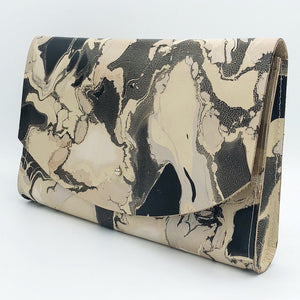 Crackle Tessa Curved Clutch - No One Alike