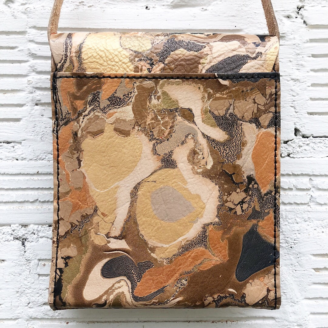 Golden Crackle Small Messenger - No One Alike
