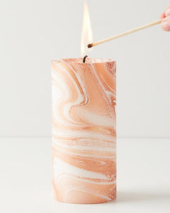 Copper Marbled Pillar