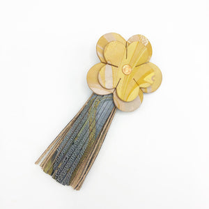 Yellow Please Floral Tassel - No One Alike