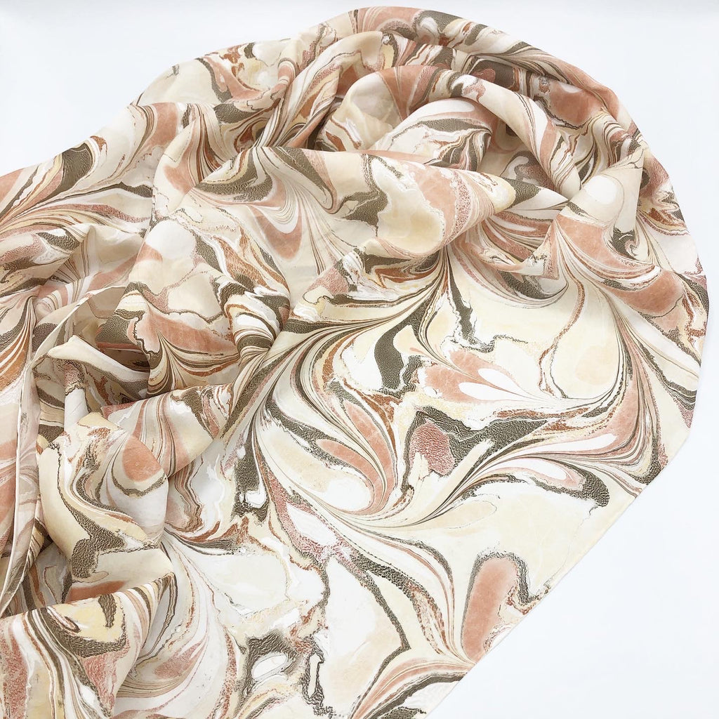 Sandstone Large Silk Wrap - No One Alike