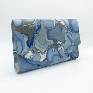 Blue Lace Tessa Curved Clutch - No One Alike