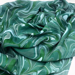 Emerald Skies Large Silk Wrap - No One Alike