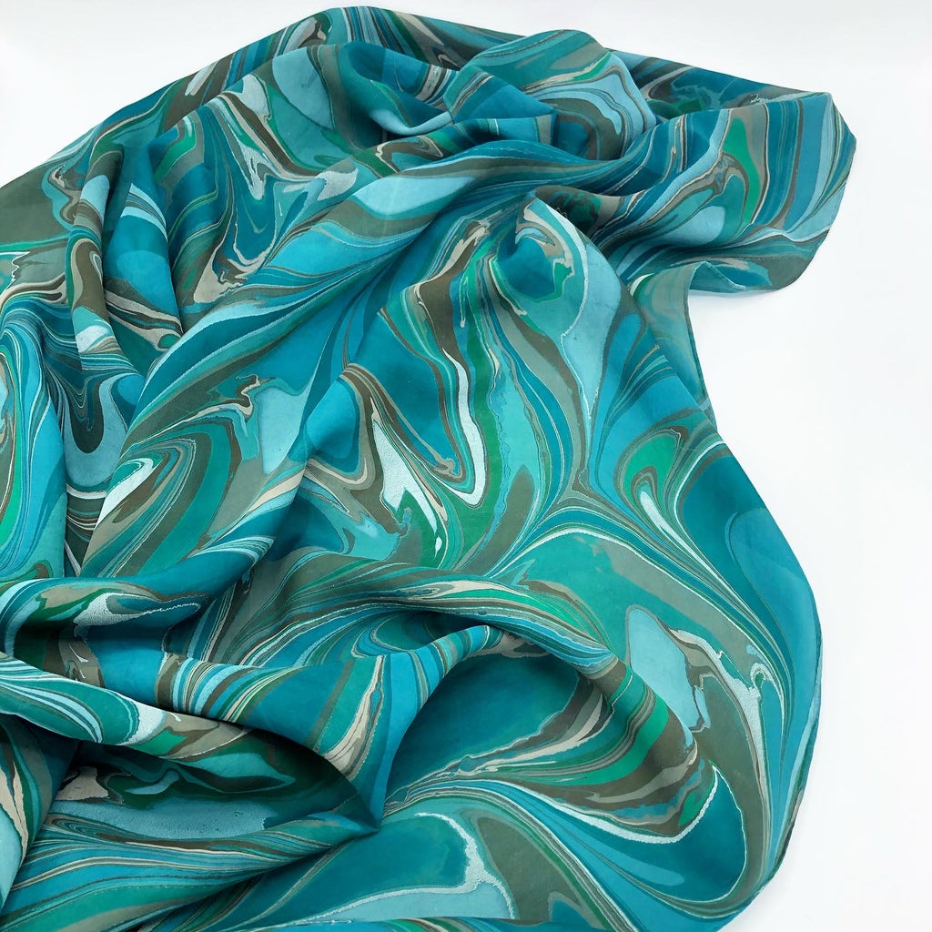 Woodland Green Large Silk Wrap - No One Alike