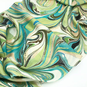 Copper & Jade Large Silk Wrap - No One Alike