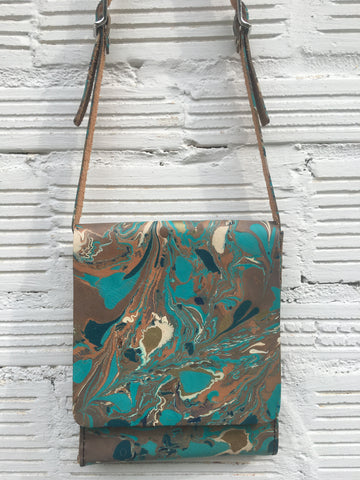 Torquoise Crackle Cross Body