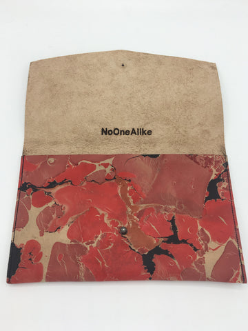 Red Crackle Clutch - No One Alike