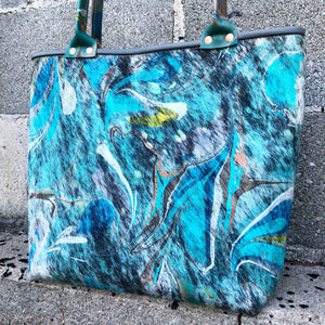 Blue Hair Small Tote - No One Alike