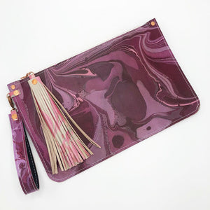 Raspberry Froth Wristlet - No One Alike