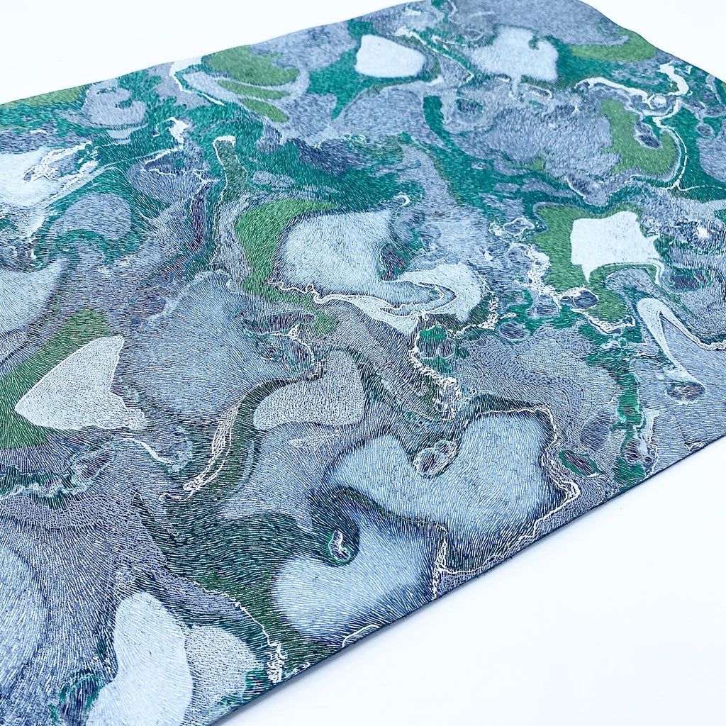 Sparkling Jade Large Exotic Leather Sheet