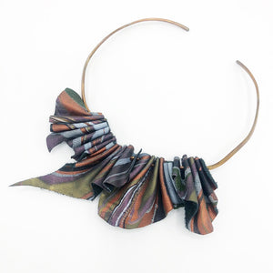 Mulberry Gathered Copper Necklace - No One Alike