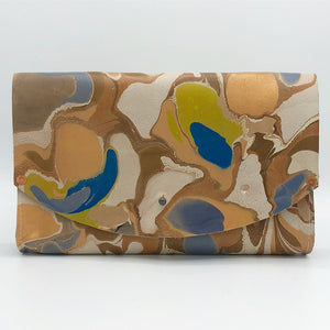 Chartruese & Denim Tessa Curved Clutch - No One Alike