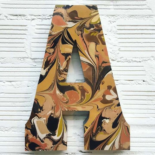 Custom Marbled Leather Letter