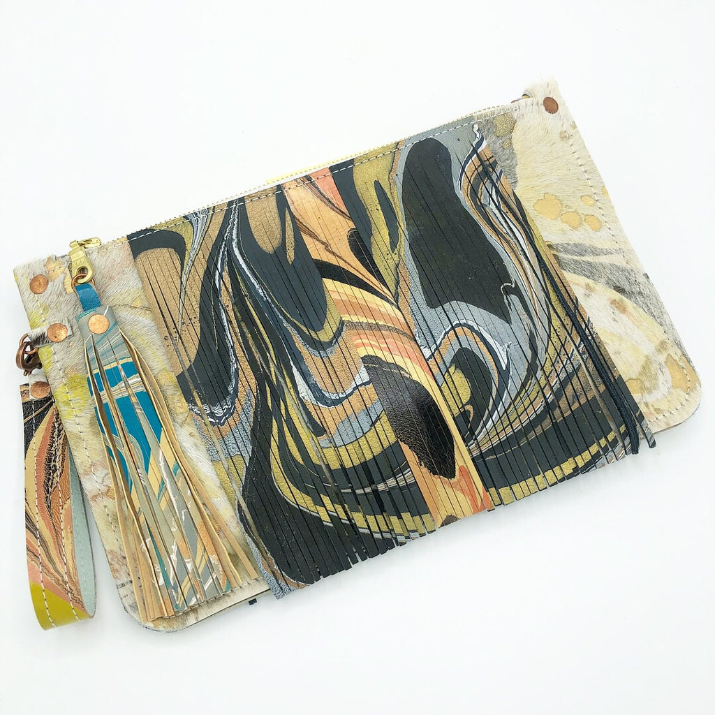 Yellow Fringe Wristlet - No One Alike