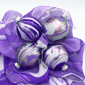 Violet Small Ornament Set - No One Alike
