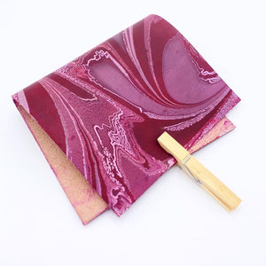 Mauve Berry Small Leather Sheet