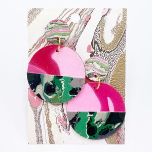 Cool Melon Circle Drop Earrings