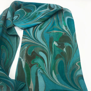 Woodland Green Small Scarf - No One Alike