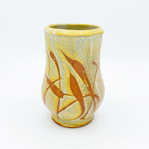 Faceted Golden Prairie Vase - No One Alike