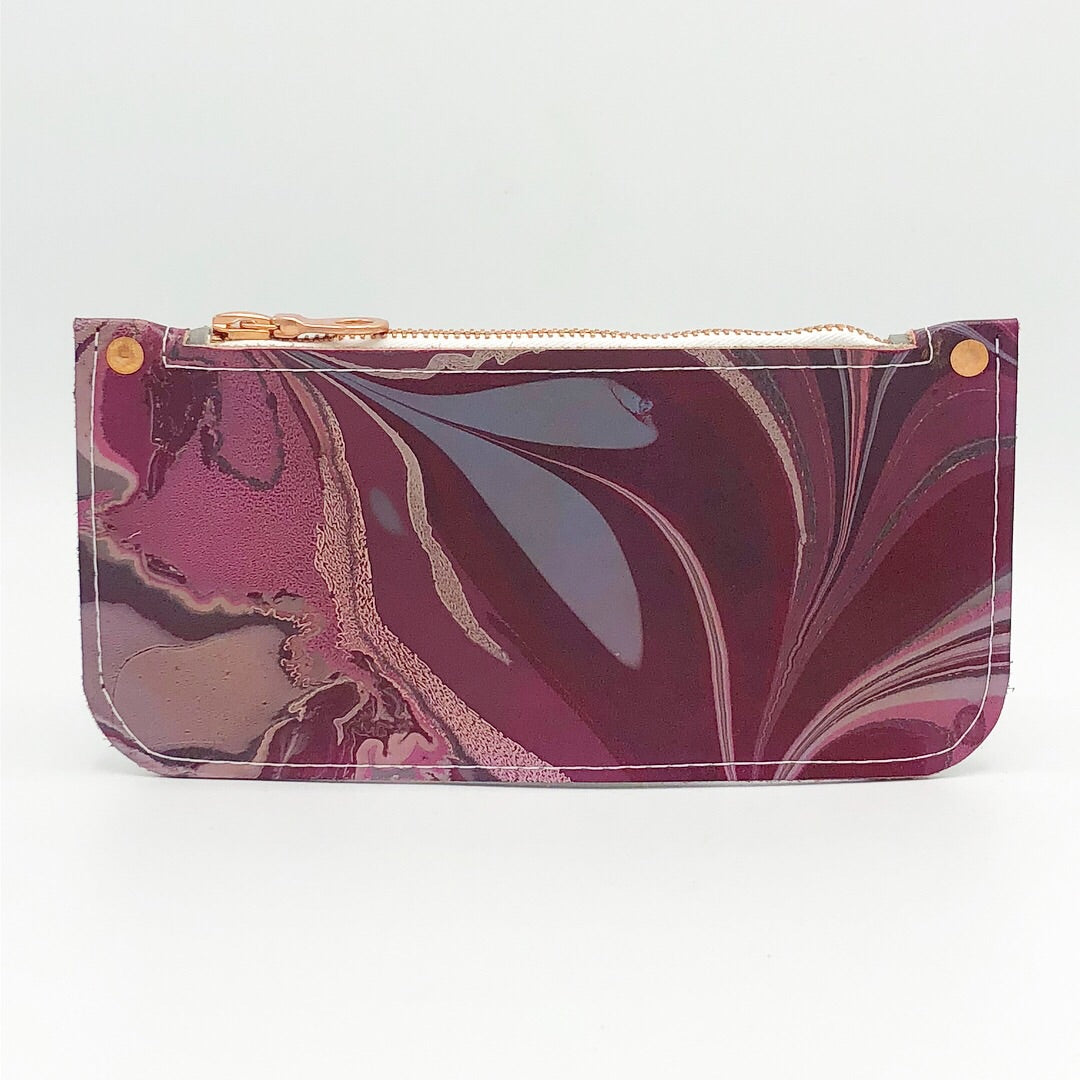 Fuschia Zipper Pouch - No One Alike
