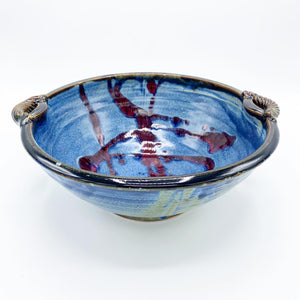Long Beach Blue Serving Bowl - No One Alike