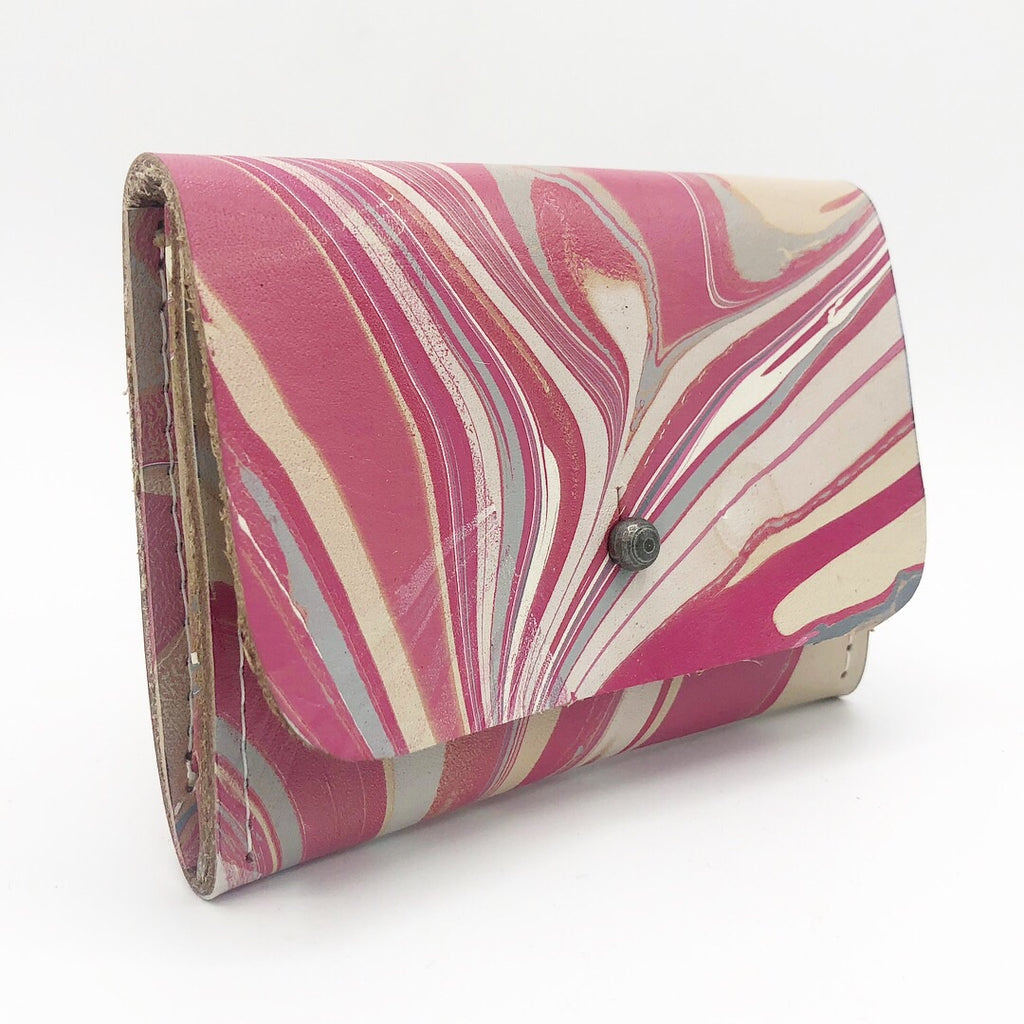 Pink & Gray Card Holder - No One Alike