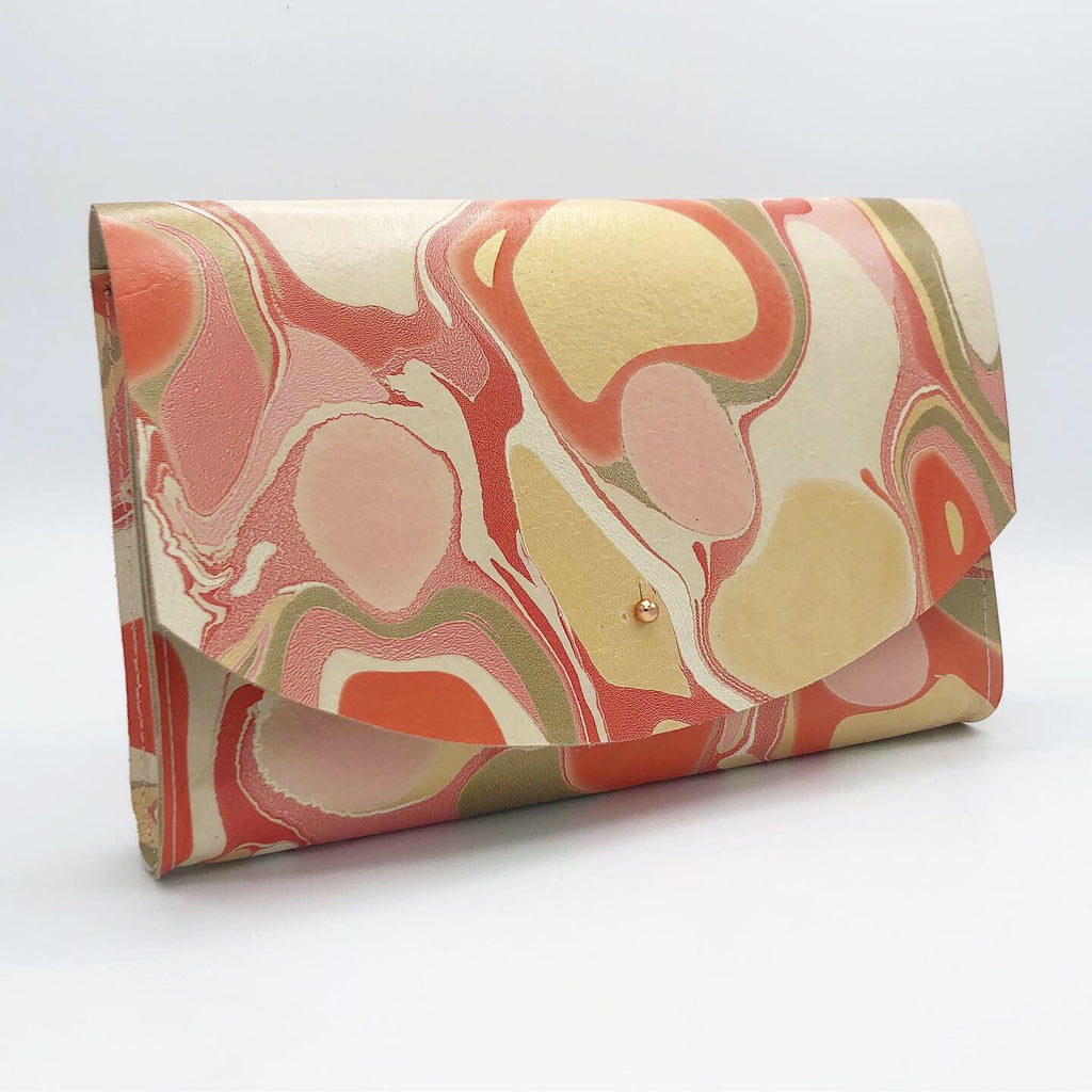 Coral Tessa Curved Clutch - No One Alike
