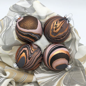 Bronze Umber Small Ornament Set - No One Alike