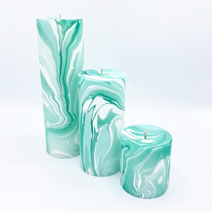 Seafoam Marbled Pillar