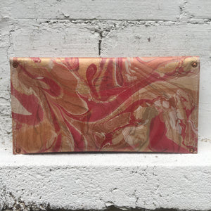 Coral and Copper Flower Clutch - No One Alike