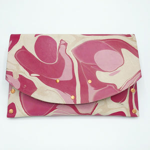 Pink Dot Curved Hardback Clutch - No One Alike